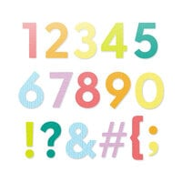 Scrapbook.com - Decorative Die Set - Bold Basic Numbers and Characters