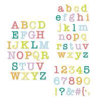 Scrapbook.com - Decorative Die Set - Alphabet and Number Bundle - Typewriter