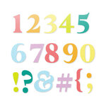 Scrapbook.com - Decorative Die Set - Classic Type Numbers and Characters
