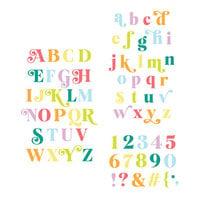 Scrapbook.com - Decorative Die Set - Alphabet and Number Bundle - Festive