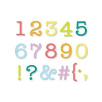 Scrapbook.com - Decorative Die Set - Typewriter Numbers and Characters