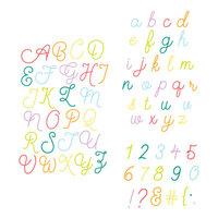 Scrapbook.com - Decorative Die Set - Alphabet and Number Bundle - Loopy Cursive