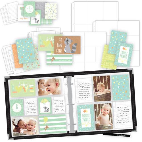 Scrapbook.com - Baby Boy Easy Albums Kit with Black Album