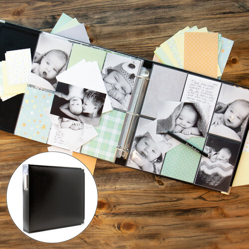 Baby Boy Easy Albums Kit with Black Album