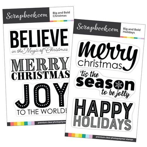 Scrapbook.com - Clear Photopolymer Stamp Set - Big and Bold Christmas Bundle