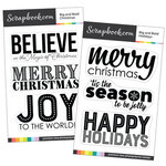 Clear Photopolymer Stamp Set - Big and Bold Christmas Bundle