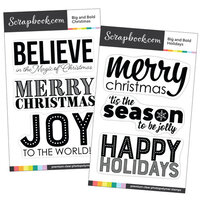 Scrapbook.com - Clear Photopolymer Stamp Set - Big and Bold Christmas Bundle