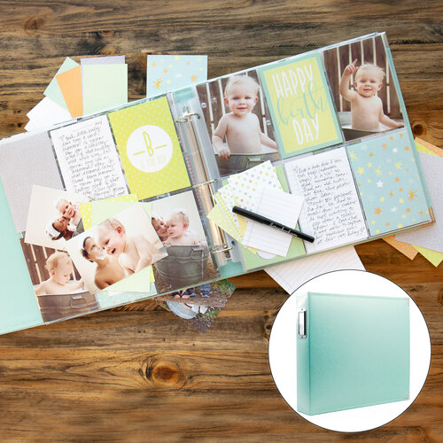 Scrapbook.com - Baby Boy Easy Albums Kit with Mint Album