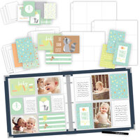 Scrapbook.com - Baby Boy Easy Albums Kit with Navy Album