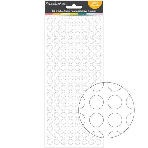 Scrapbook.com - Double Sided Adhesive Foam Rounds - Large Rounds