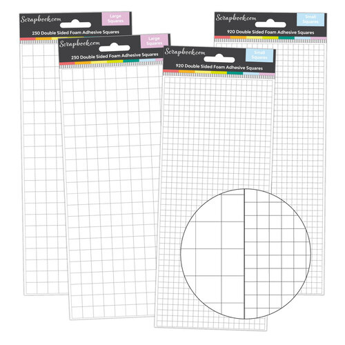 Scrapbook.com - Double Sided Adhesive Foam - Squares Assortment