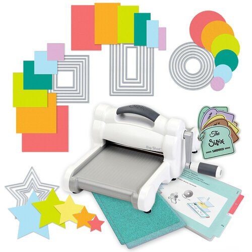 Exclusive Sizzix Big Shot Machine Die Cutting Bundle - Nested Basics Die Sets