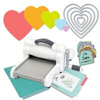 Exclusive Sizzix Big Shot Machine Die Cutting Bundle - Nested Hearts