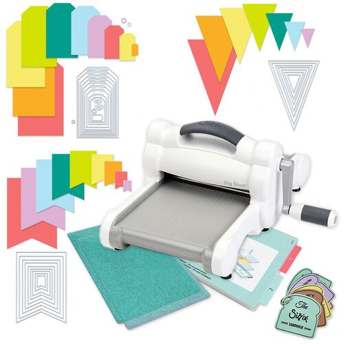 Exclusive Sizzix Big Shot Machine Die Cutting Bundle - Nested Jumbo Die Sets