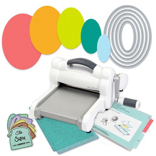 Scrapbook.com - Exclusive Sizzix Big Shot Machine Die Cutting Bundle - Nested Ovals