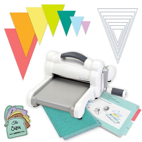 Scrapbook.com - Exclusive Sizzix Big Shot Machine Die Cutting Bundle - Nested Jumbo Triangle Pennants