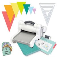 Exclusive Sizzix Big Shot Machine Die Cutting Bundle - Nested Jumbo Triangle Pennants