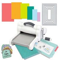 Exclusive Sizzix Big Shot Machine Die Cutting Bundle - Nested Rectangles