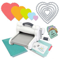 Scrapbook.com - Exclusive Sizzix Big Shot Machine Die Cutting Bundle - Nested Scalloped Hearts