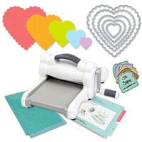 Exclusive Sizzix Big Shot Machine Die Cutting Bundle - Nested Scalloped Hearts