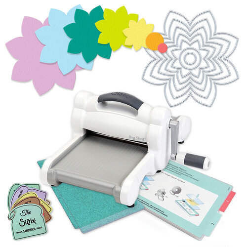 Scrapbook.com - Exclusive Sizzix Big Shot Machine Die Cutting Bundle - Nested Spring Flower