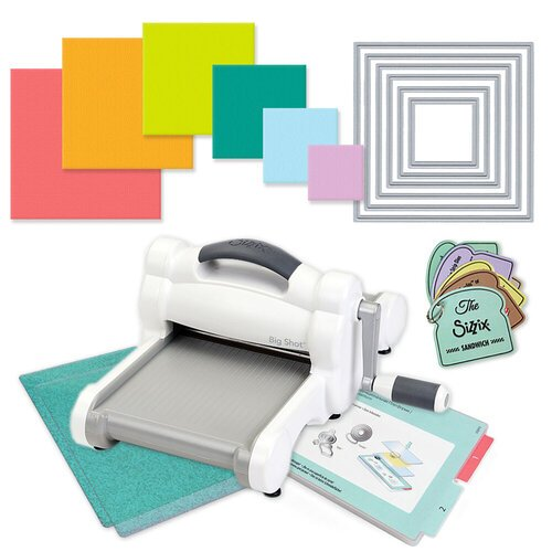 Scrapbook.com - Exclusive Sizzix Big Shot Machine Die Cutting Bundle - Nested Squares