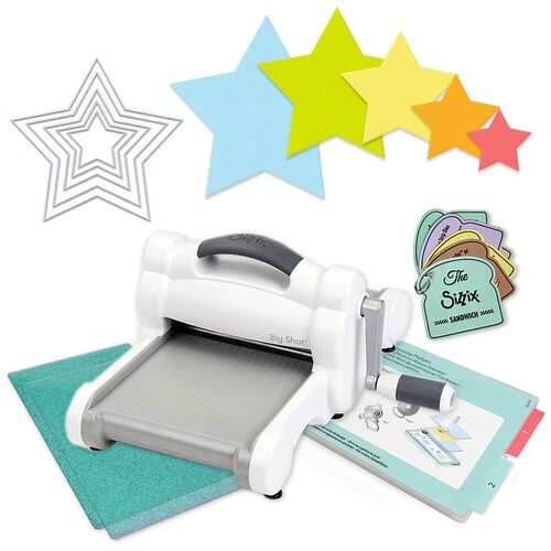 Exclusive Sizzix Big Shot Machine Die Cutting Bundle - Nested Stars