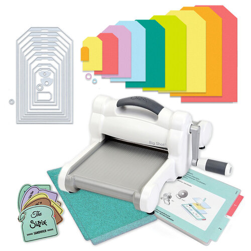 Exclusive Sizzix Big Shot Machine Die Cutting Bundle - Nested Jumbo Tags