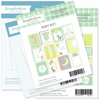 Scrapbook.com - 3 x 4 and 4 x 6 - Journaling and Themed Cards for Easy Albums - Baby Blues Bundle
