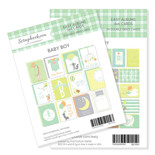3 x 4 and 4 x 6 - Themed Cards for Easy Albums - Baby Blues Bundle
