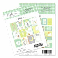 Scrapbook.com - 3 x 4 and 4 x 6 - Themed Cards for Easy Albums - Baby Blues Bundle