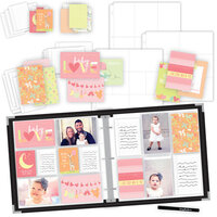 Scrapbook.com - Baby Girl Easy Albums Kit with Black Album