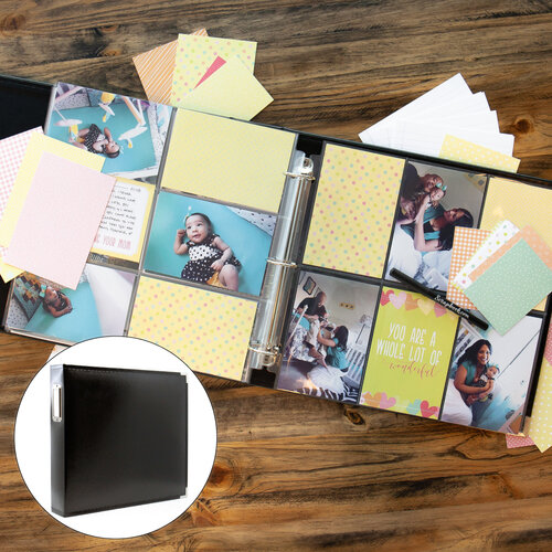 Baby Girl Easy Albums Kit with Black Album