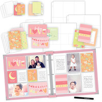 Scrapbook.com - Baby Girl Easy Albums Kit with Pink Album
