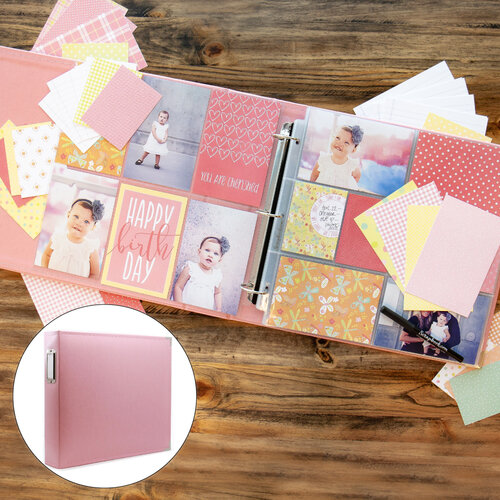 Baby Girl Easy Albums Kit with Pink Album