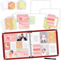 Scrapbook.com - Baby Girl Easy Albums Kit with Red Album