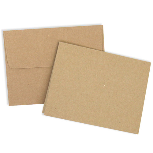 A2 Kraft Card/Envelope Set 25 pk.
