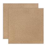 12 x 12 Chipboard - Standard - 20pt - Natural - 2 Sheets