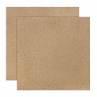 Scrapbook.com - 12 x 12 Chipboard - Standard - 20pt - Natural - 2 Sheets