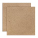 12 x 12 Chipboard - 2X Heavy - 85pt - Natural - 2 Sheets