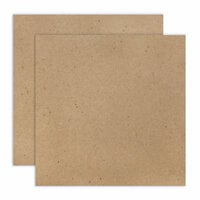Scrapbook.com - 12 x 12 Chipboard - 2X Heavy - 85pt - Natural - 2 Sheets