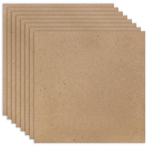 Scrapbook.com - 12 x 12 Chipboard - 2X Heavy - 85pt - Natural - Ten Sheets