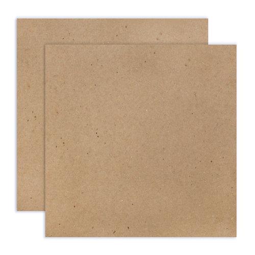 Scrapbook.com - 12 x 12 Chipboard - 1X Heavy - 52pt - Natural - 2 Sheets