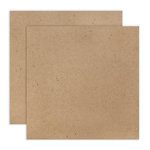 12 x 12 Chipboard - 1X Heavy - 52pt - Natural - 2 Sheets