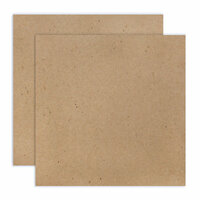 Scrapbook.com - 12 x 12 Chipboard - 1X Heavy - 52pt - Natural - 2 Sheets