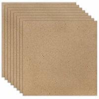 Scrapbook.com - 12 x 12 Chipboard - 1X Heavy - 52pt - Natural - Ten Sheets