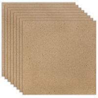 Scrapbook.com - 12 x 12 Chipboard - 1X Heavy - 52pt - Natural - Ten Sheets