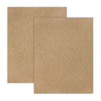 Scrapbook.com - 8.5 x 11 Chipboard - Standard - 20pt - Natural - 2 Sheets