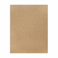 Scrapbook.com - 8.5 x 11 Chipboard - Standard - 20pt - Natural - One Sheet