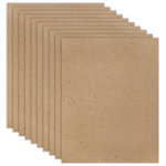 8.5 x 11 Chipboard - Standard - 20pt - Natural - Ten Sheets